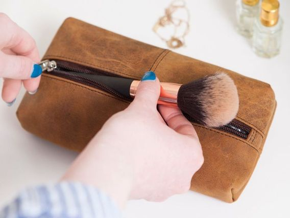 View our  Leather Make Up Case from the  Travel Accessories collection