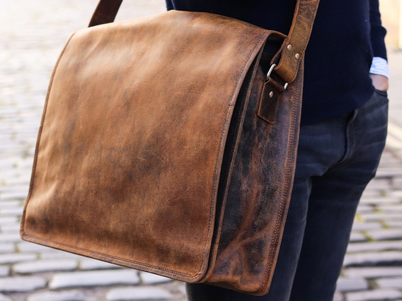 View our  Leather Messenger Bag Large 17 Inch from the  Work Gifts collection