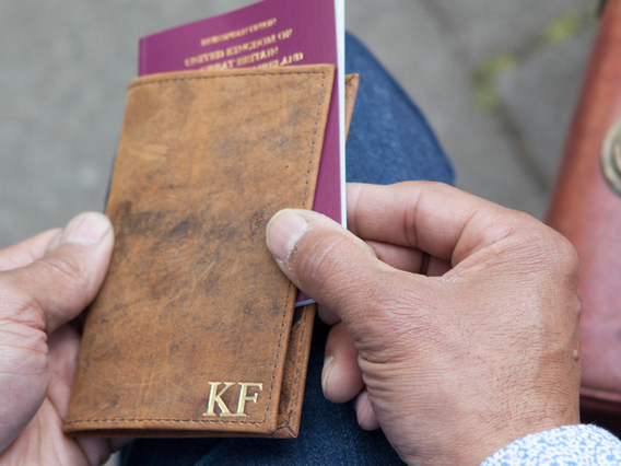 View our  Leather Passport Holder from the   collection