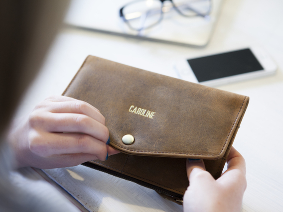 View our  Leather Purse from the  Travel Gifts collection