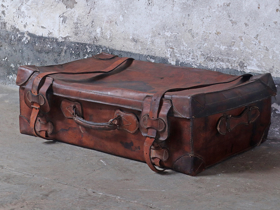 View our  Vintage Revelation Leather Suitcase  from the  Sold collection