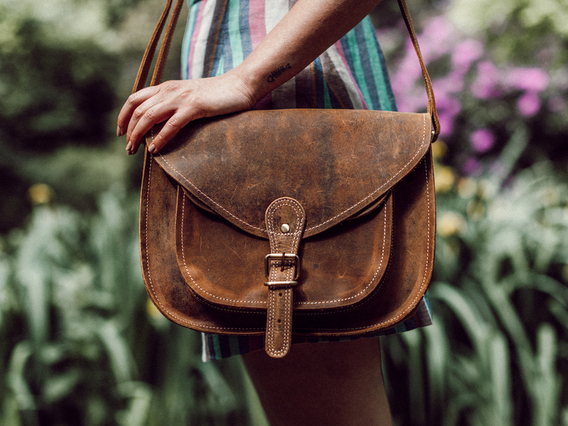 View our Women Leather Saddle Bag 12 Inch from the Women Leather Satchels & Bags collection