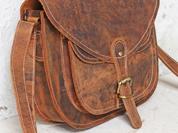 View our Women Leather Saddle Bag 12 Inch from the Women  collection