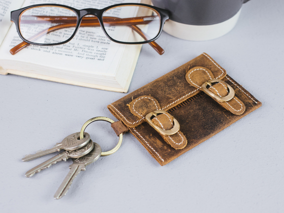 View our  Leather Satchel Key Ring from the   collection