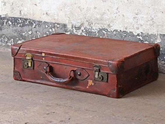 Brown Vintage Leather Suitcase