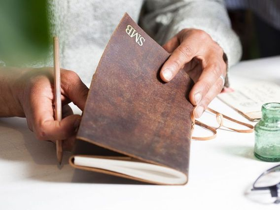 Leather Travel Journal Plain
