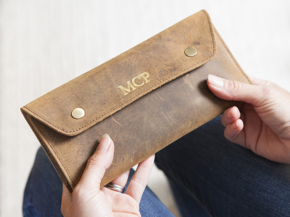 View our  Leather Travel Wallet from the  Travel Gifts collection