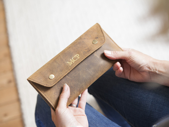 View our  Leather Travel Wallet from the   collection
