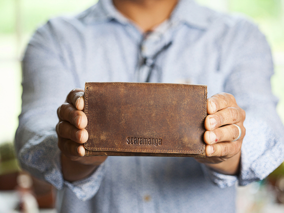 View our  Leather Tri Fold Smartphone Wallet from the  Gifts For Men collection