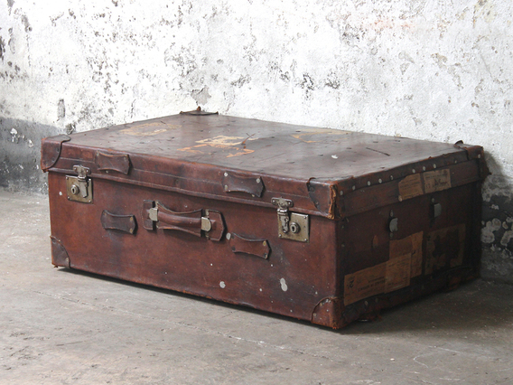 View our  Leather Trunk from the  Old Travel Trunks collection