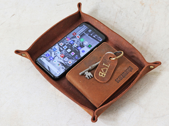 Leather Valet Tray - Large