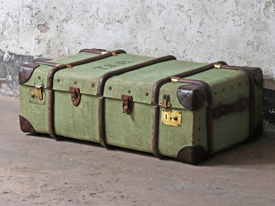 View our  Green Steamer Trunk from the  Sold collection