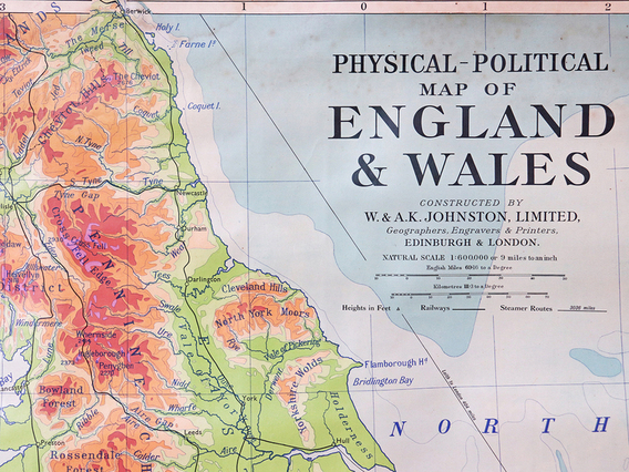 View our  Vintage Map Of England and Wales from the   collection
