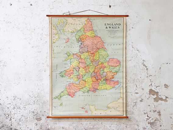 View our  Old-School Canvas Map - England and Wales from the   collection