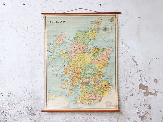 View our  Old School Canvas Wall Map - Scotland from the   collection