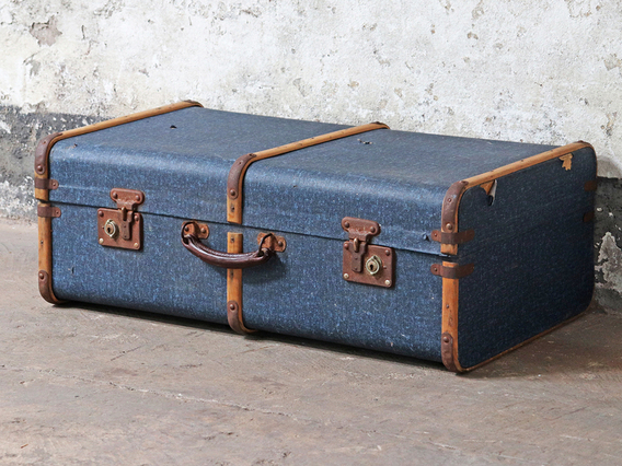 View our  Blue Steamer Trunk from the  Old Travel Trunks collection