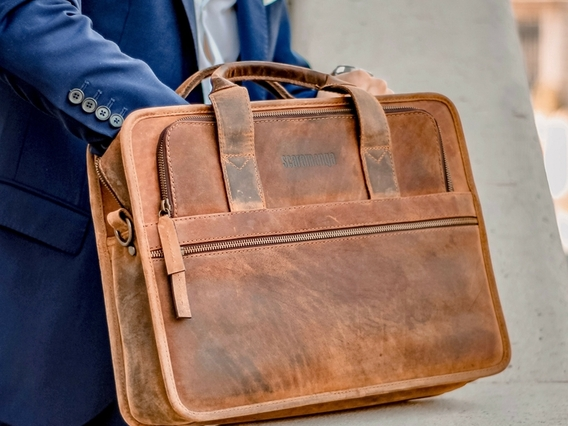 View our  Men's Citylander Leather Briefcase from the   collection