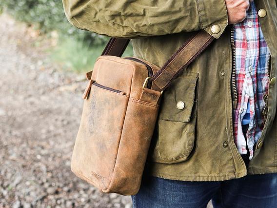 Mens Crossbody Leather Bag