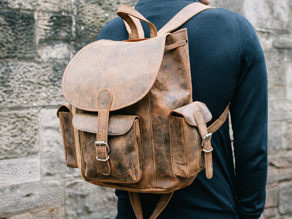 View our Men Men's Leather Backpack from the Men Leather Backpacks collection