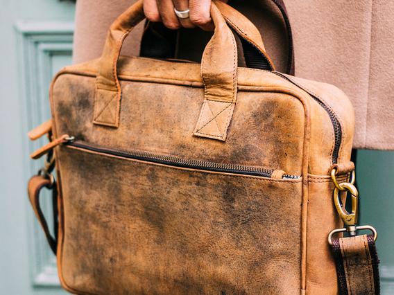 Men's Leather Laptop Bag 14 Inch