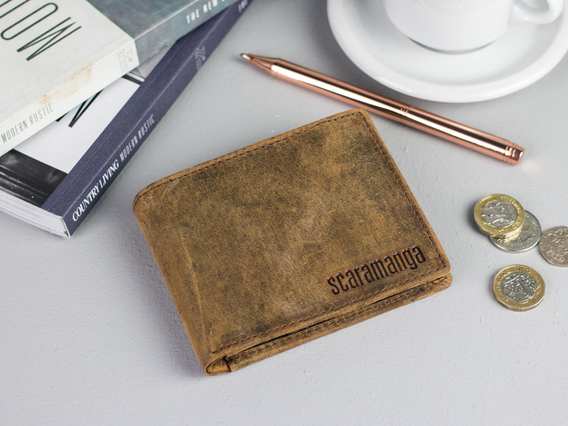 View our  Men's Leather Wallet with Coin Pocket from the   collection