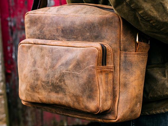 Men's Retro Leather Shoulder Bag