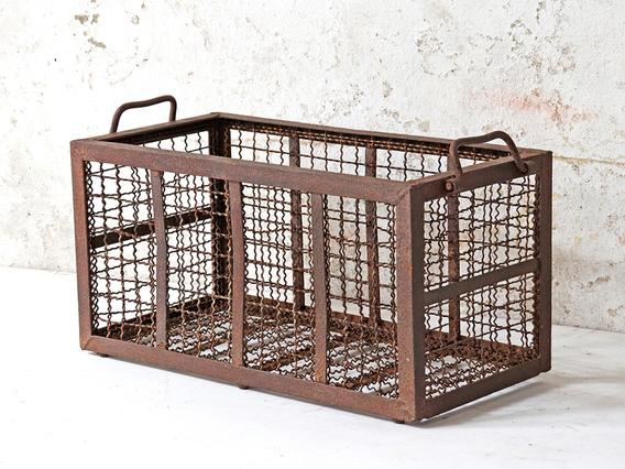 Vintage Metal Storage Basket
