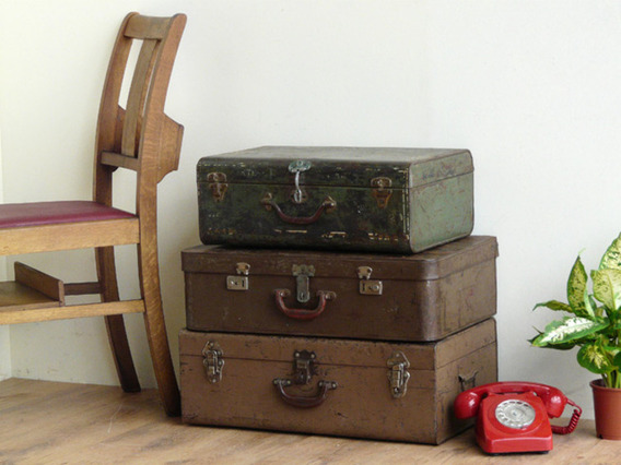 View our  Old Green Metal Travel Case from the   collection