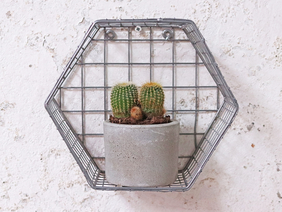 View our  Metal Hexagon Shelf from the   collection
