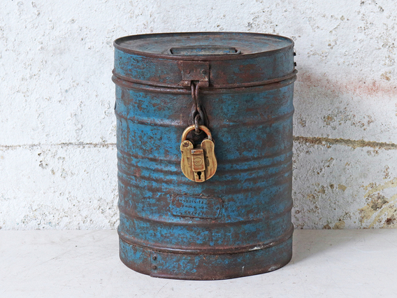 View our  Blue Metal Drum from the   collection