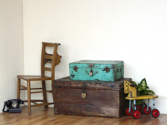 View our  Turquoise Metal Trunk from the   collection