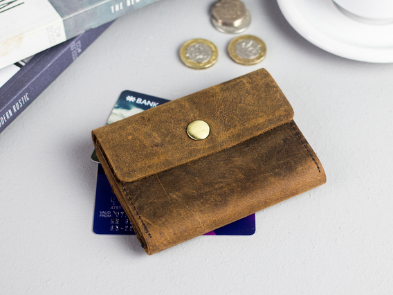 View our  Brown Leather Wallet – Mini from the  Accessories collection