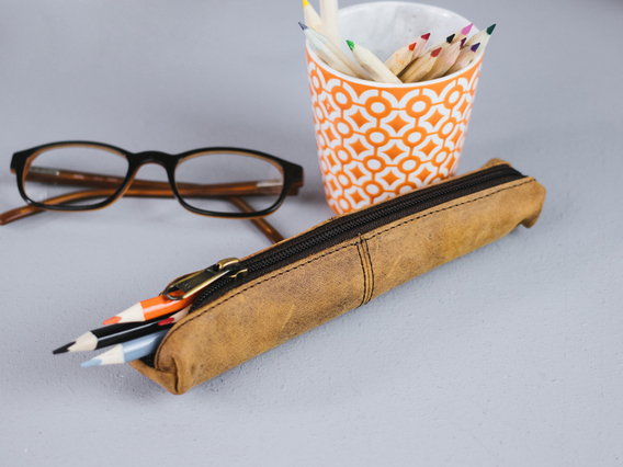 View our  Mini Leather Pencil Case from the  Leather Care Products collection