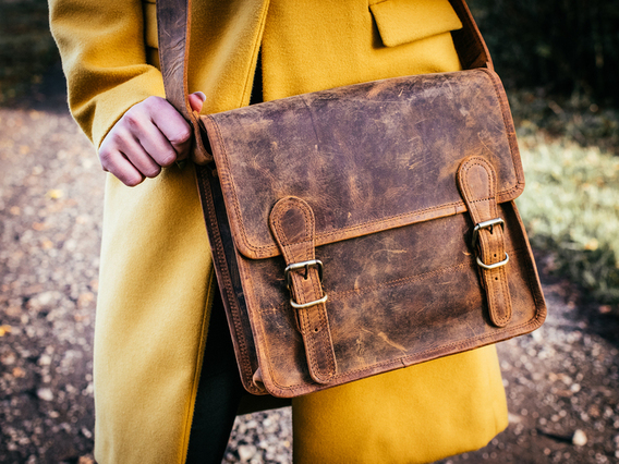 View our Women Mini Leather Satchel 11 Inch from the Women Leather Satchels & Bags collection