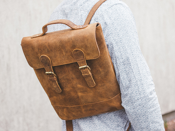 Mini Soho Leather Backpack For Men