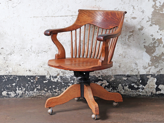 View our  Antique Oak Office Chair from the   collection