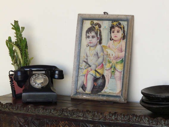 View our  Old Indian Print from the  Vintage Wooden Pots collection