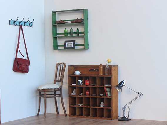 View our  Vintage Industrial Pigeon-Hole Shelving Unit OFRN70127 D from the   collection