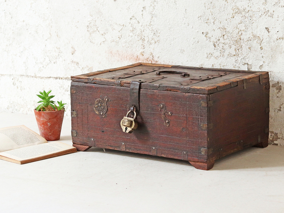 View our  Old Indian Shekawati Box from the  Bathroom Storage collection