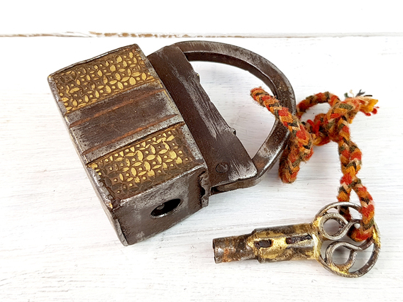 View our  Old Iron And Brass Screw Padlock from the   collection