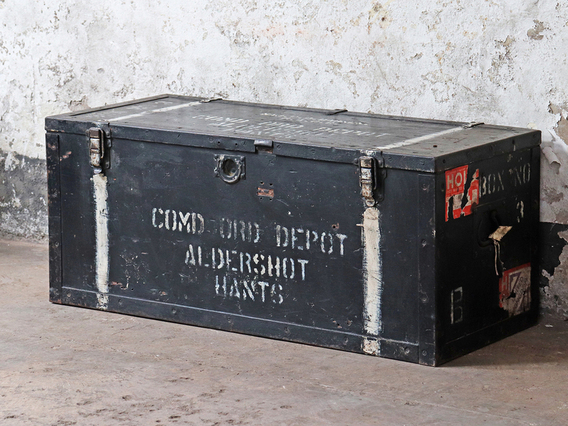 View our  Old Black Military Chest from the   collection