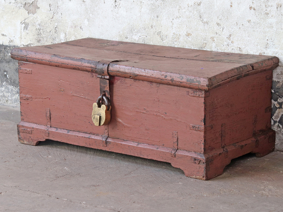 View our Old Painted Chest from the Shabby Chic Bedroom Furniture collection