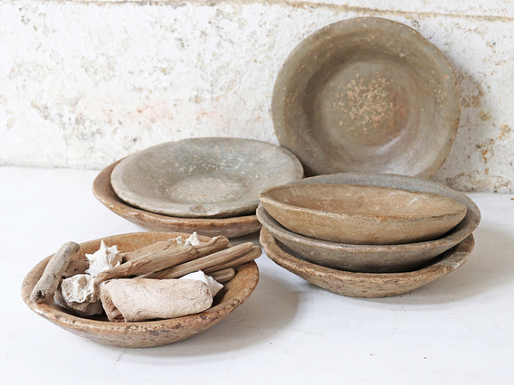 Old Stone Bowl - Round