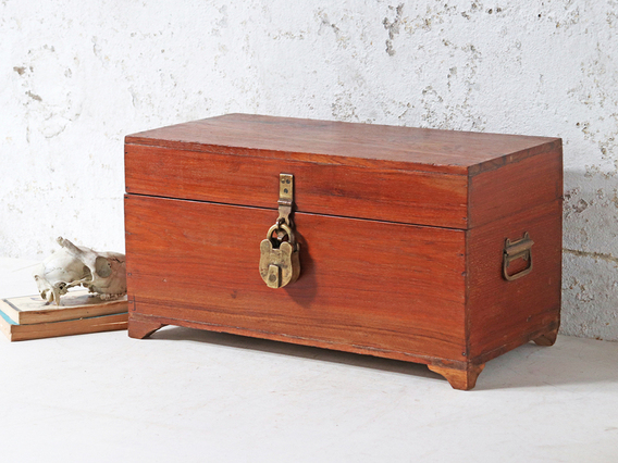 View our  Old Teak Chest from the  Hallway collection