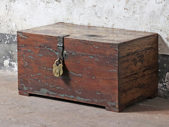 View our  Old Wooden Chest from the  Hallway collection