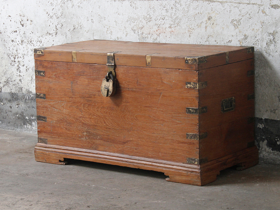 View our  Old Wooden Storage Chest from the   collection