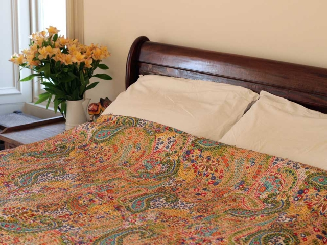 View our  Handstitched Mustard Yellow Bedcover from the   collection