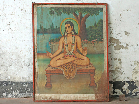 View our  Sitting Yogi Painting from the  New In collection