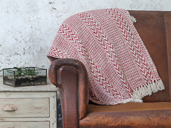 View our  Red Cotton Stripe Weave Throw from the  Soft Furnishings collection