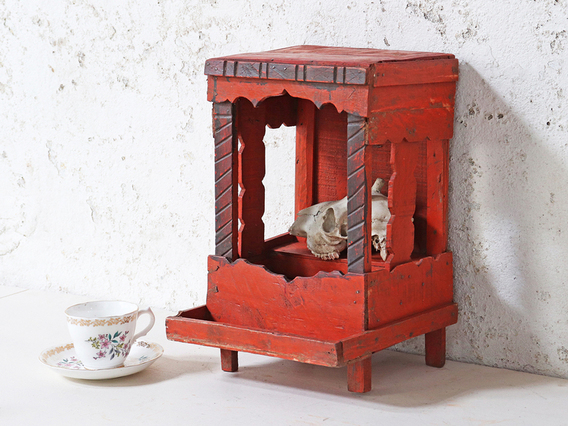 View our  Red Display Cabinet from the  Kitchen  collection